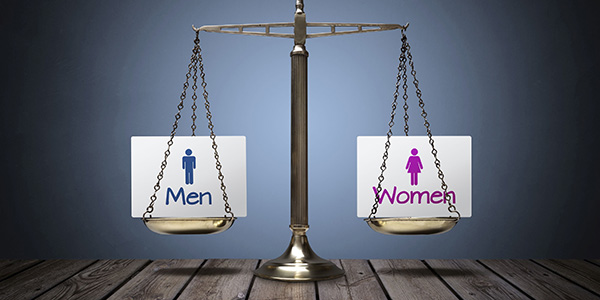 Equality Between Man And Woman Concept.